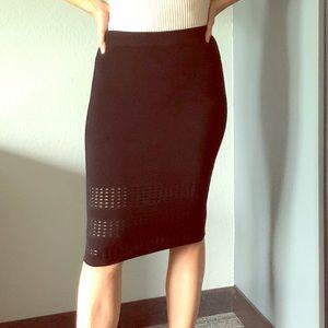 Bebe Black Bandage Pencil Dress